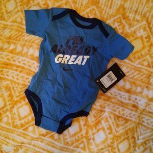 NWT Nike Onesie size 3-6 months